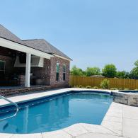 Fiberglass pool and Spa installation in Gulfport